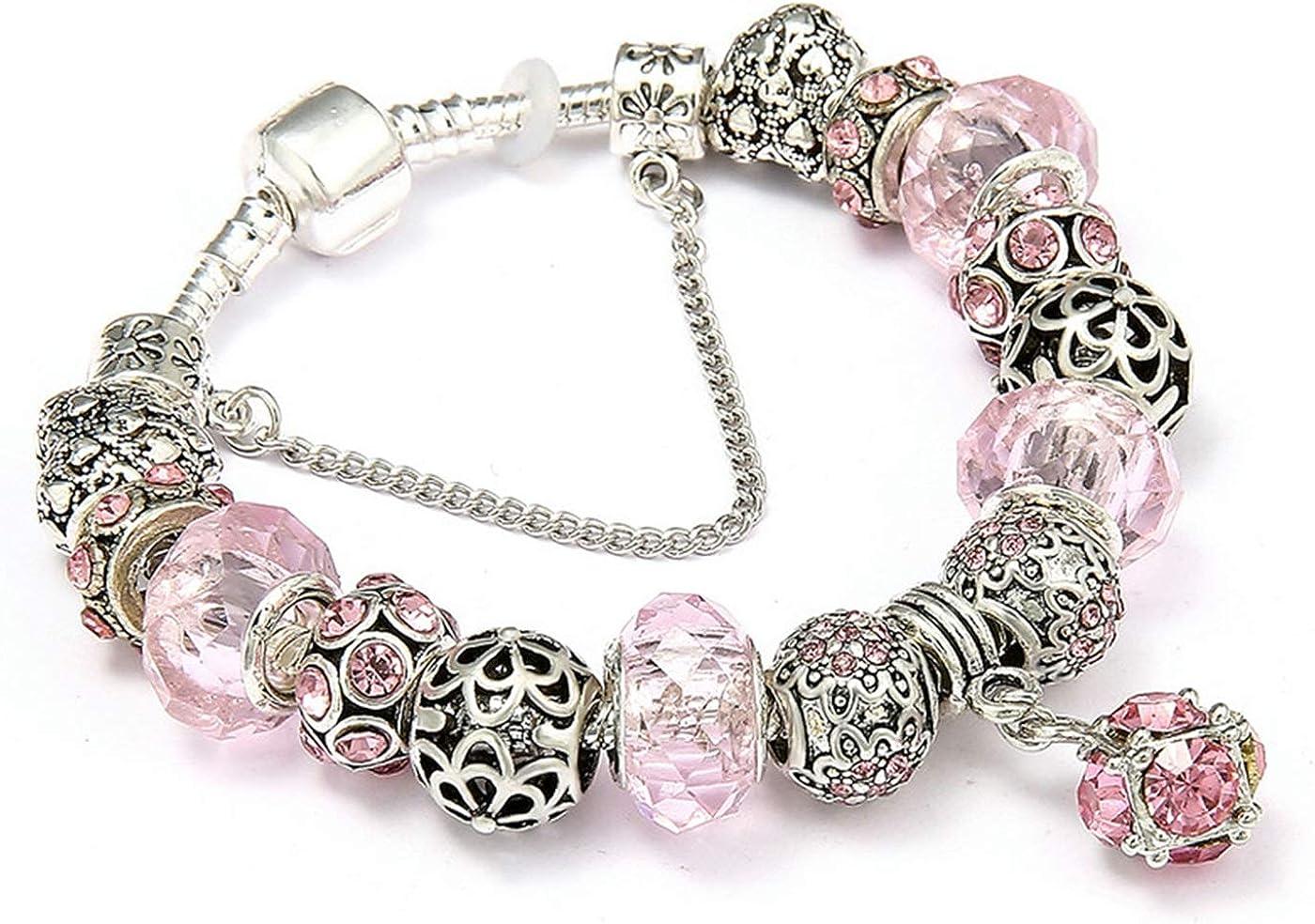 PmseK Pulsera de Moda,Pulsera de Curación Luxury Dropshipping AAA Zircon Charm Bracelet For Women Fit Brand Bracelet Jewelry DIY Making Accessories Gifts