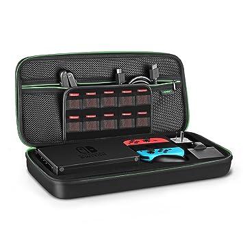 UGREEN Funda para Nintendo Switch La Base Estuche Rígido Caja Carcasa de Viaje Transportar el Dock, la Consola Switch, Control Joy-con con Grip, ...