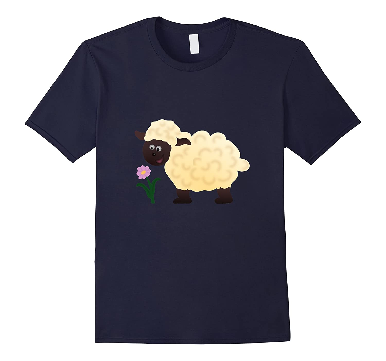 Sheep T-Shirt  Cute Farm Animal  Wool Baa Zoo Goat-PL