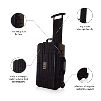 US PRO impermeable con ruedas Rolling Caja de herramientas de equipos de viaje funda rígida con
