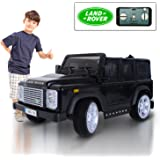 Land Rover Defender 12V Kids Electric Battery Powered Ride On Car with MP3 and Remote Control - Black