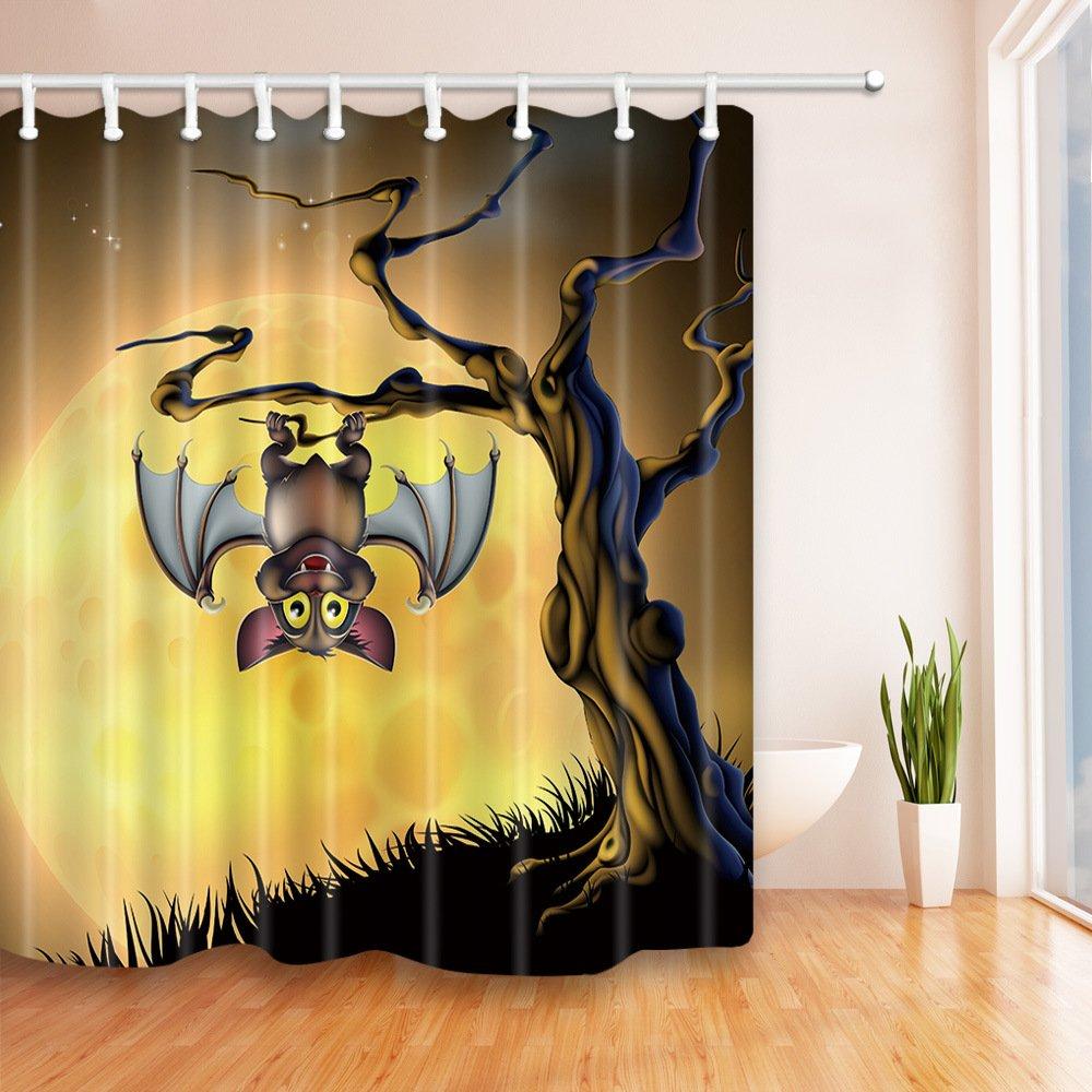 Anchor Cinlla Decoraci/ón de ba/ño Tema di Halloween Serie Tenda da Doccia Eco-Friendly Resistente alla Muffa Antibatterica Impermeabile Ganci Inclusi 180cm * 180cm