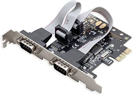 PCI-E Express RS232 Serial Printer Parallel Port 9Pin Expansion Card Adapter hudiemm0B Expansion Card
