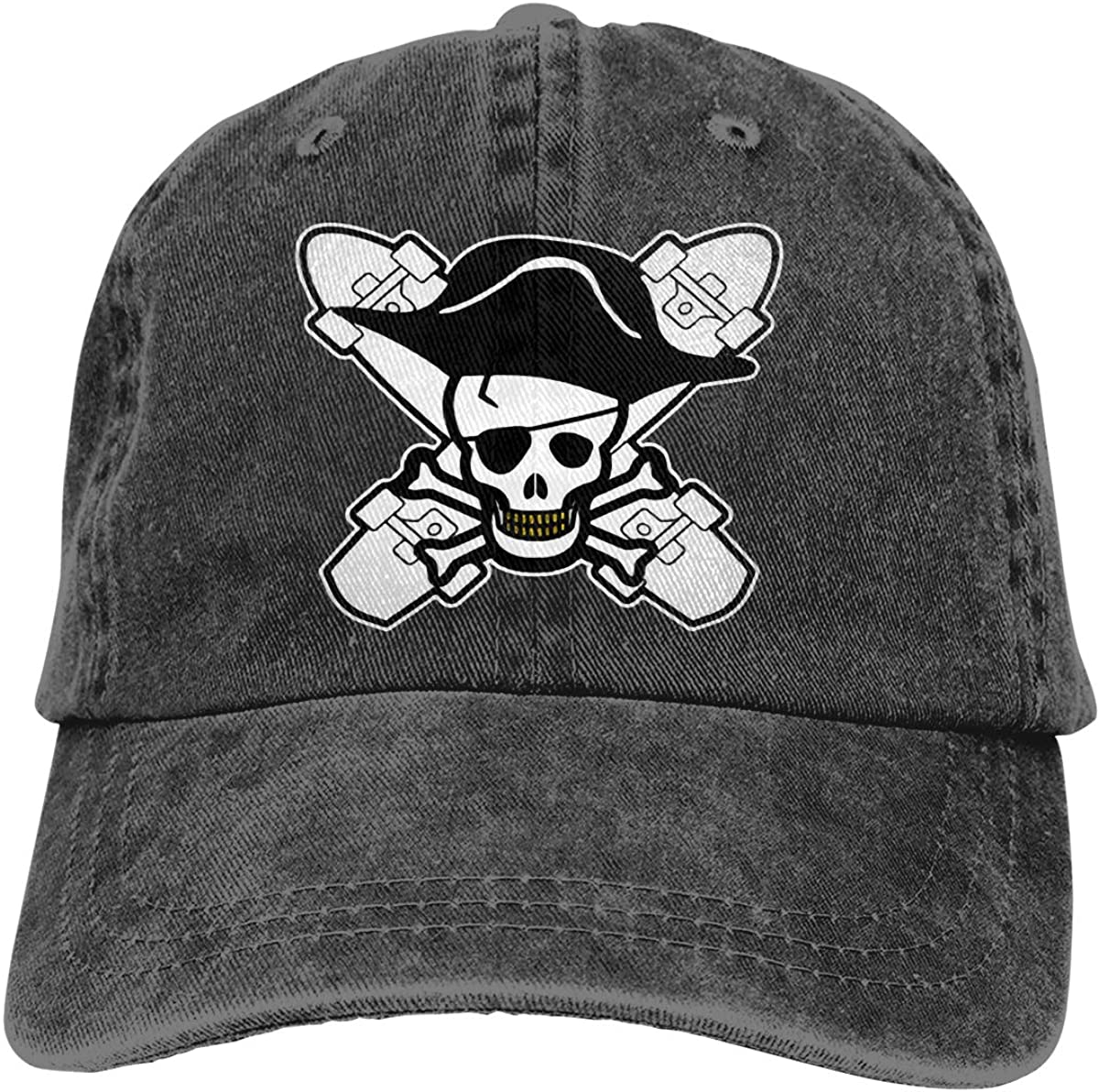 Pirate Skater Unisex Adult Cowboy Hat Outdoor Sports Hat Adjustable Truck Driver Hat