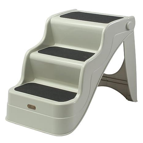 PawHut Escalera Ligera, rampa portátil, escaleras Plegables para Mascotas y Gatos para ser Utilizado