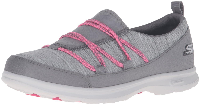 Skechers Go Step Sway Womens Slip On Walking Sneakers Black
