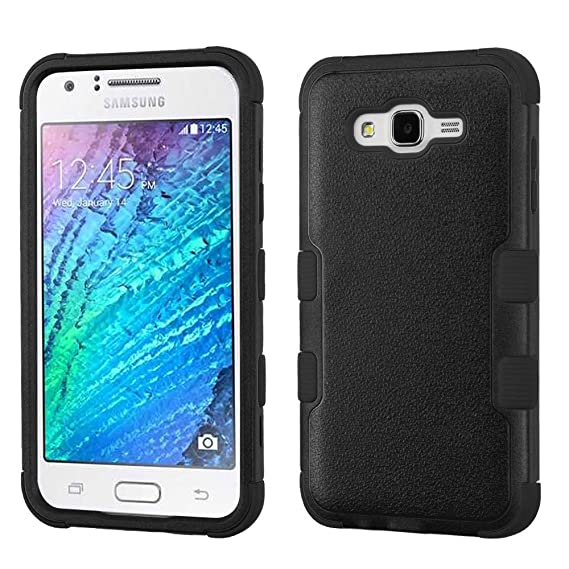 new arrival dd22e bb227 Amazon.com: Samsung Galaxy J7 - Premium Black [TUFF Hybrid] Heavy ...