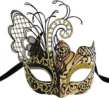 mardi gras mask womens black and gold masquerade mask