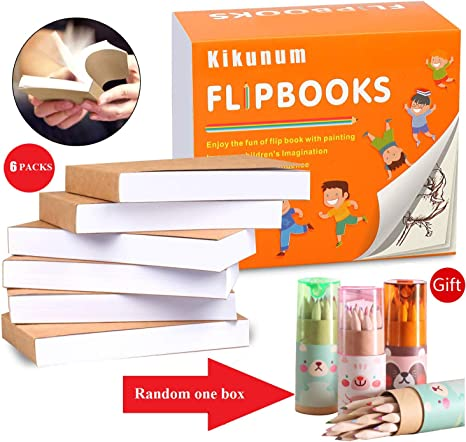 88 Blank Animation Paper Sheets per Flipbook - 4.5 x 2.5 Inches 176 Pages for Sketching and Cartoon Creation Flip Book 10 Pack