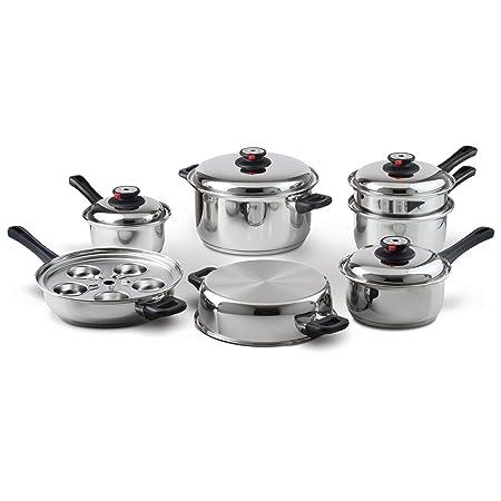 Maxam 9-Element Waterless Cookware Set