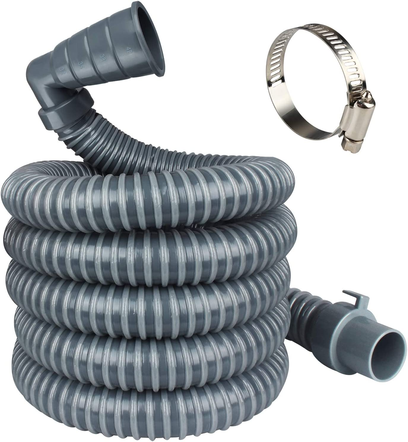 MyLifeUNIT Washing Machine Drain Hose Extension Kit, 10-Feet