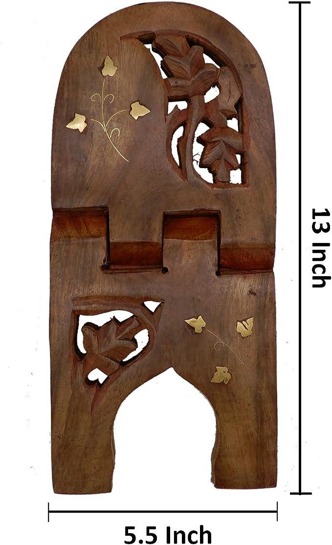 Regalo il vostro San Valentino giorno speciale PMK legno pieghevole Libro Religioso supporto del basamento con il fiore Lavoro dintaglio