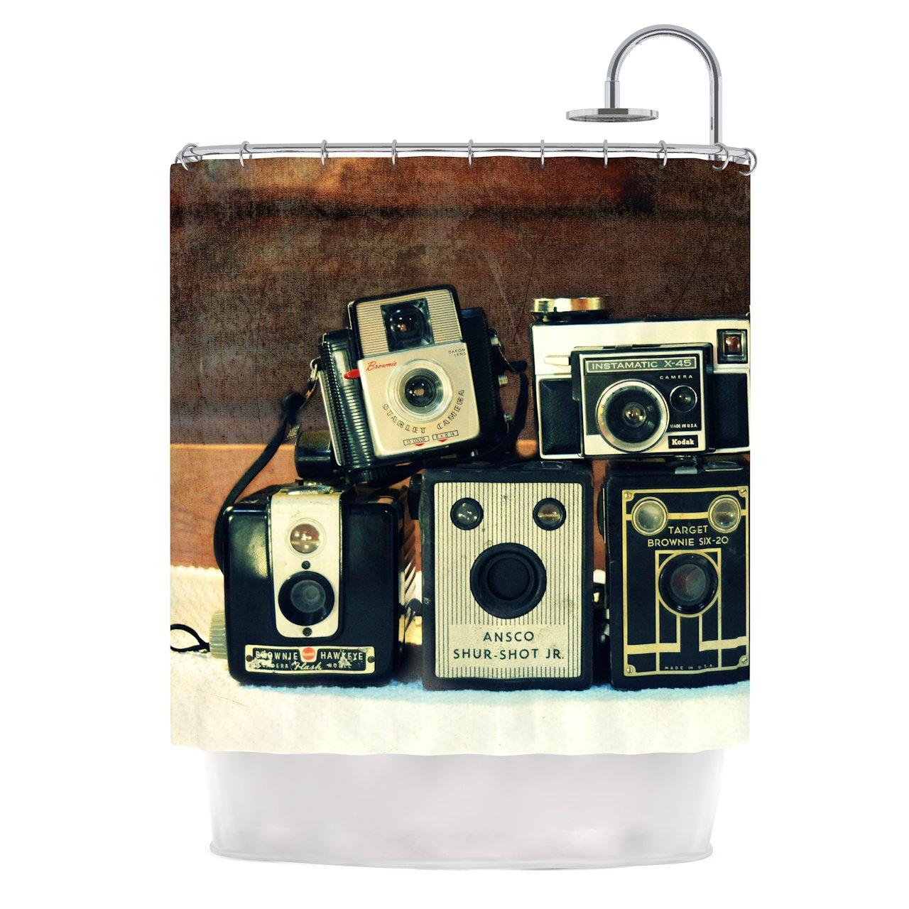 Kess InHouse Robin Dickinson ''Through the Years'' Shower Curtain, 69 x 70'', Vintage Camera