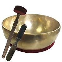 Klangschale GROSSE HERZSCHALE mit DUNKLEM TON 4-teiliges Klangmassageset, Therapie-Qualität   Therapieklangschale ca.1300 ca.21-22cm Ø #70222   Handarbeit Nepal, Kissen, Reibe- & Filz-Therapieklöppel.