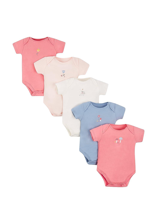 Mothercare Baby Girls' Bodysuit 5 Pack 5 pack-MC412
