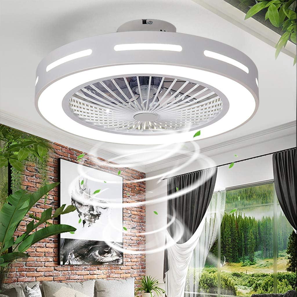 Ventiladores De Techo Con Iluminación Luz De Techo LED Temperatura De 3 Colores Velocidad Del Viento Ajustable Regulable Con Control Remoto Para Dormitorio Sala Comedor 48W (Ø55 * H20cm)