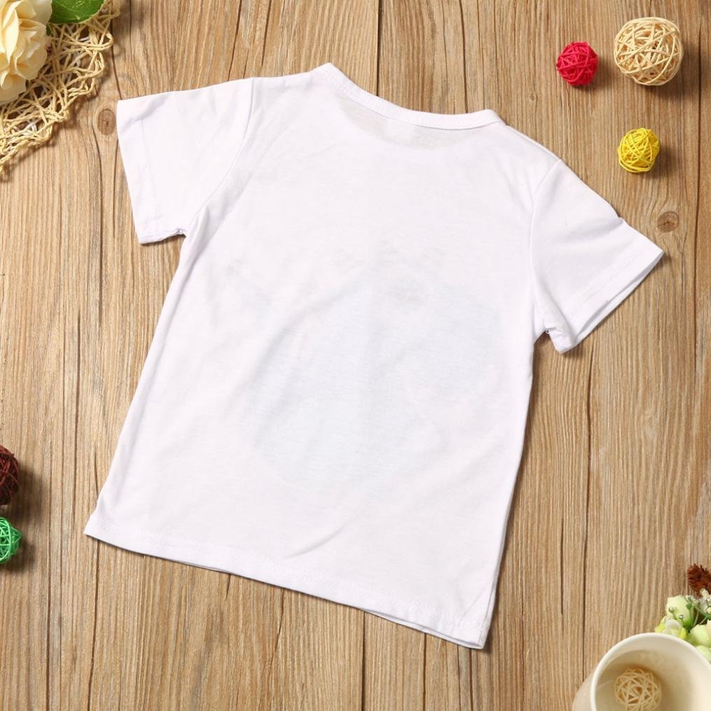 Babybekleidung,Resplend Kinder Baby Cartoon Printing T-Shirt Kurze Hosen Kleidung Outfits Set Streifen 2 St/ück Babyanzug Bekleidungssets
