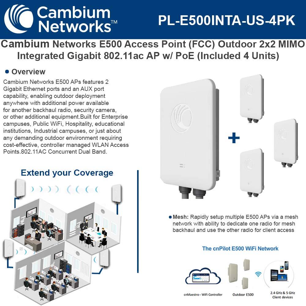 Amazon com: Cambium E500 AP(FCC) Outdoor 2x2 Integrated