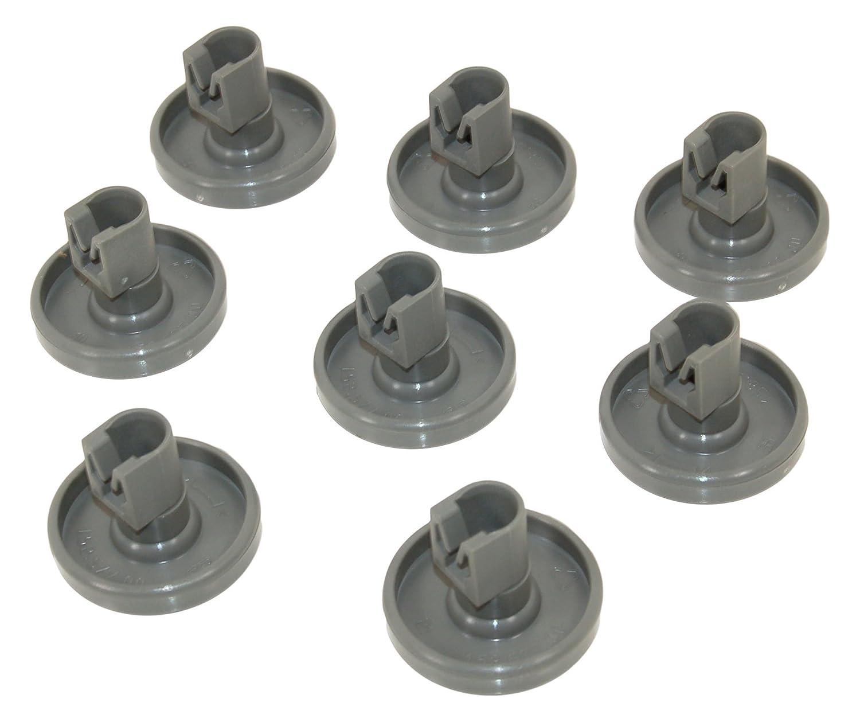 Electrolux Dishwasher Lower Basket Wheel Pack Of 8. Genuine part number 50286965004 Electrolux 50286965004