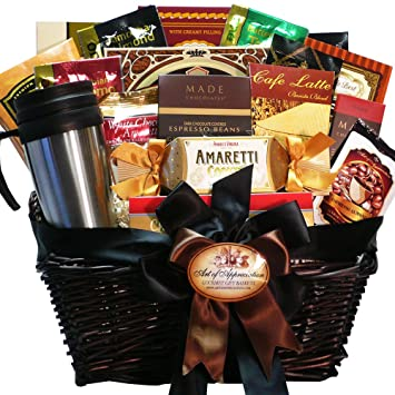 coffee connoisseur gourmet food gift basket gourmet