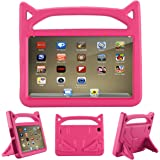 F ir e 7 2017 Case, F ir e 7 2015 Case,ANTIKE Shockproof Light Weight Handle Kids Friendly Case for A m a z o n F ir e 7 2017 Tablet (7th Generation, 2017 Release)(Pink)