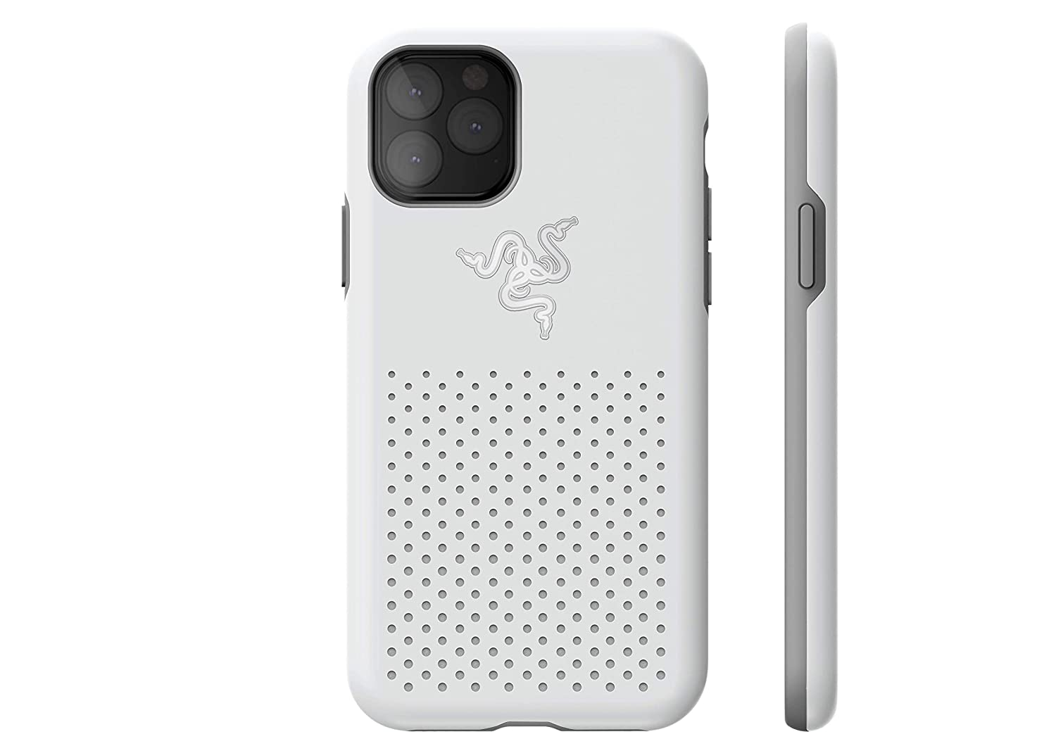 Razer Arctech Pro THS Edition for iPhone 11 Pro Max Case: Thermaphene & Venting Performance Cooling - Wireless Charging Compatible - Drop-Test Certified up to 10 ft - Mercury White