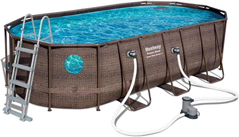 Bestway Power Steel Swim Vista Series Oval Suelo, Brown: Amazon.es ...