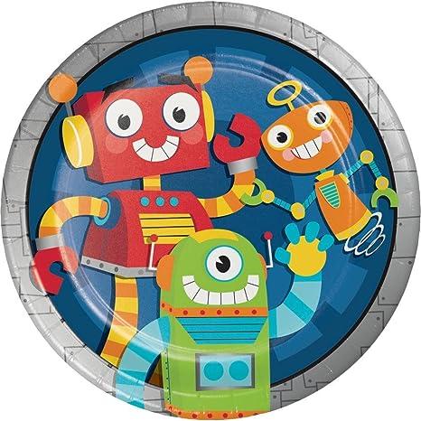 8 platos * divertido Robot * para una fiesta temática o ...