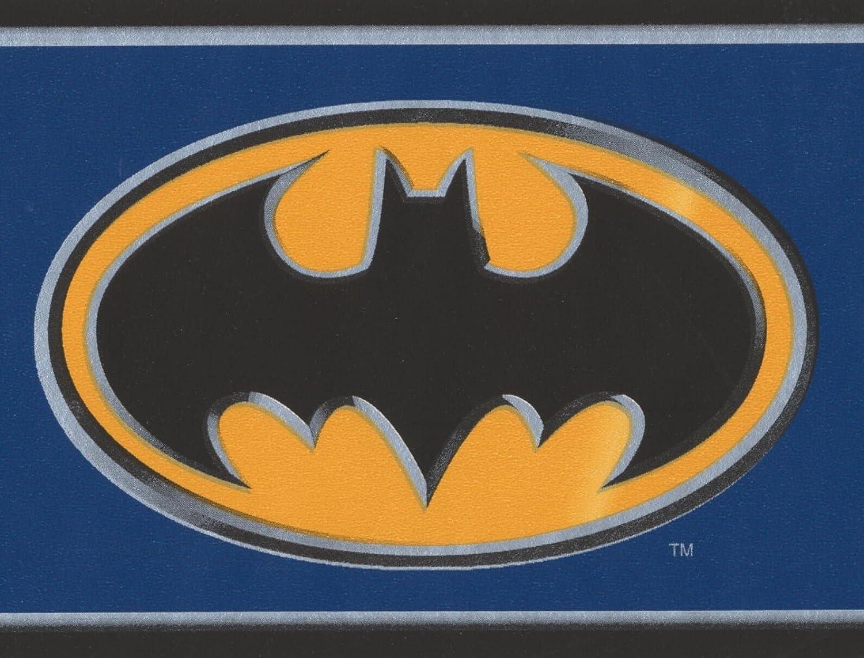 York Wallcoverings Batman negro lado cartel amarillo ...