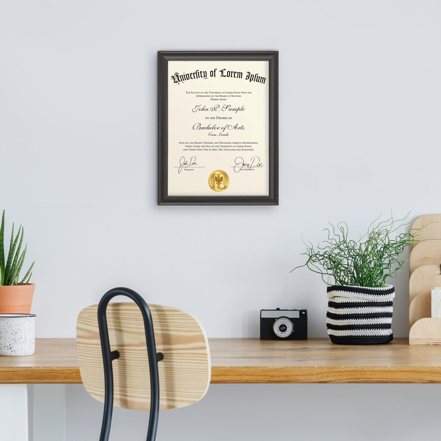 Icona Bay 8.5x11 Document Frame (12 Pack, Black), Black Certificate Frame 8.5 x 11, Composite Wood Diploma Frame for Walls or Tables, Set of 12 Lakeland Collection by Icona Bay (Image #8)