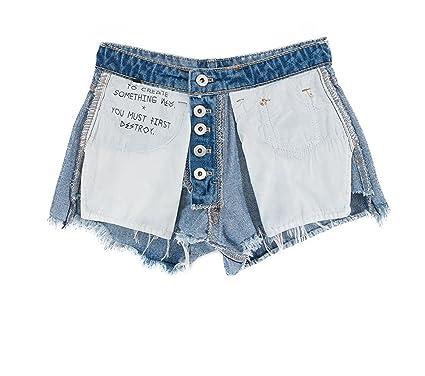 7a62d403e58b Summer New Design Models Washed Burrs on Both Sides wear Women s Denim  Shorts high Waist Shorts