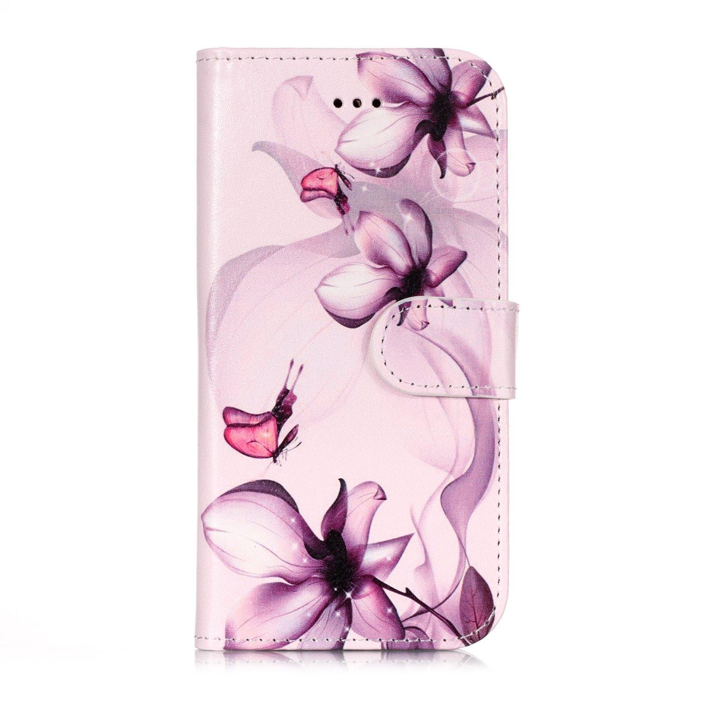 Lomogo iPhone 6S / iPhone 6 Hü lle Leder, Schutzhü lle Brieftasche mit Kartenfach Klappbar Magnetverschluss Stoß fest Kratzfest Handyhü lle Case fü r Apple iPhone6S / iPhone6 (4,7 Zoll) - LOYHU21794#8