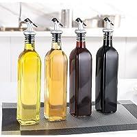 4PCS 500ml Oil and Vinegar Cruet Glass Bottles with Dispensers Oil and Vinegar Dispenser Set Glass Bottle Kitchen…