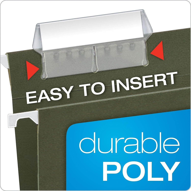Suspension Files Tabs Refills 56 Blank Inserts /& 10 Durable Plastic Tabs 71F010