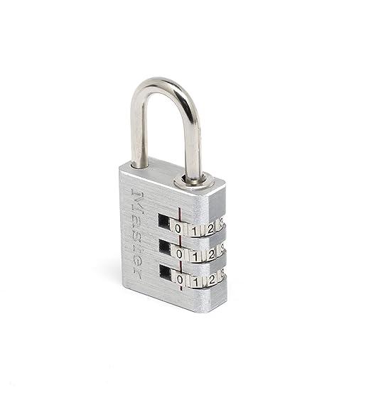 Master Lock 7620EURT Lote de Candados para Maleta, Equipaje, de Combinación Programable Plata 20 mm Set de 2 Piezas: Amazon.es: Ropa y accesorios