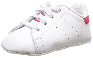 adidas Originals Stan Smith Crib White/Bold Pink Leather 4 M US Infant