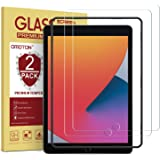 [2 Pack] OMOTON Tempered Glass Screen Protector Compatible with iPad 8th Generation (10.2 Inch), Apple Pencil Compatible/Bubb