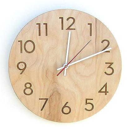 modern, handmade   natural wood Wall clock,89 cm large