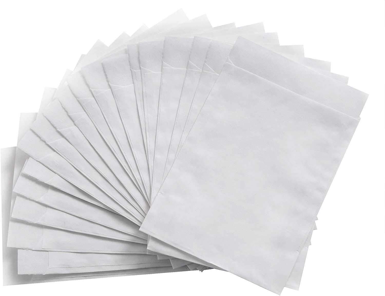 25 St/ück kleine wei/ße Papiert/üten Papier-Flachbeutel 10,5 x 15 cm Mini-t/üte Papier-Beutel Kraftpapier Tischkarten basteln Verpackung give-away Geschenke Gastgeschen bef/üllen Mitgebsel