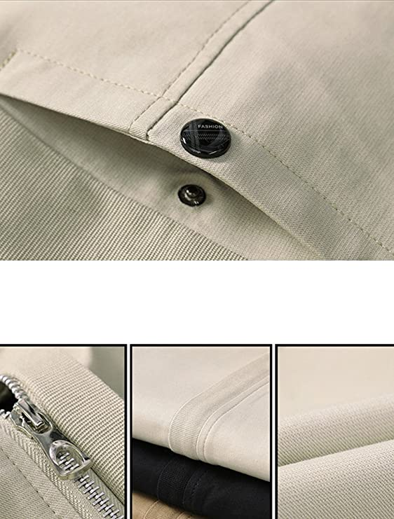 Lavnis Mens Stand Collar Jacket Casual Slim Fit Lightweight Bomber Coat at Amazon Mens Clothing store: