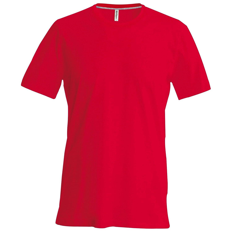 Kariban - Camiseta Básica entallada con cuello redondo de manga corta - 100%  algodón primera calidad extra suave  Amazon.es  Ropa y accesorios 58ea7db55db