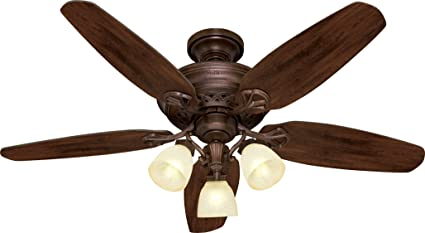Hunter 28716 52 Inch Woodford5 Blade 3 Light Ceiling Fan