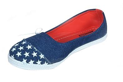ASK - JS - LCD & CO Navy Blue Canvas Women Shoes,(Size_10 UK
