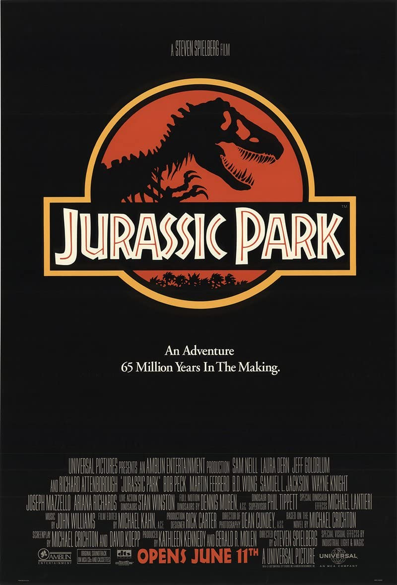 "Jurassic Park 1993 Authentic 26.75"" x 39.75"" Original Movie Poster ..."