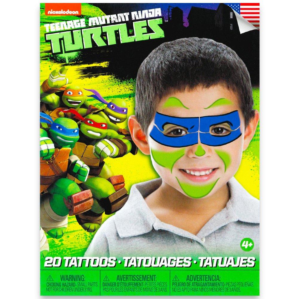 Teenage Mutant Ninja Turtles Mask Children Temporary Tattoos – Leonardo