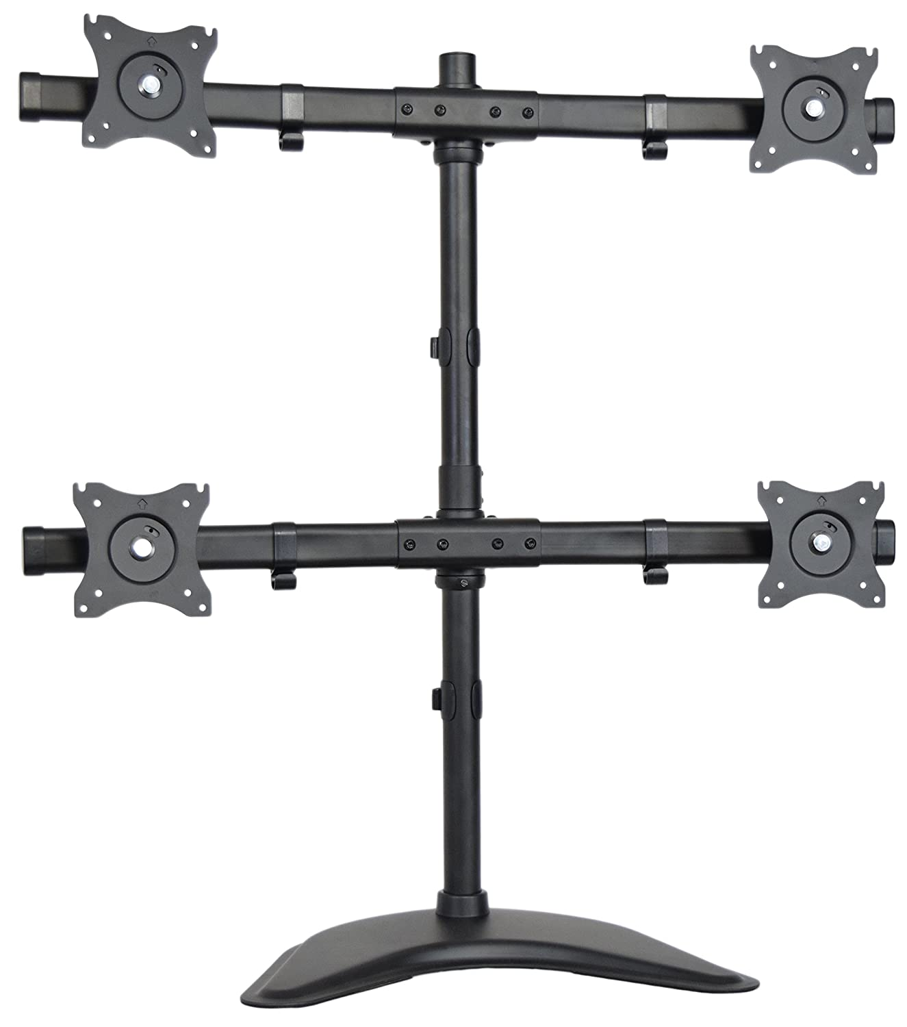 """4 LCD Screens Up to 27/"""" Heavy Duty Quad Monitor Stand Free Standing Desk Mount"""