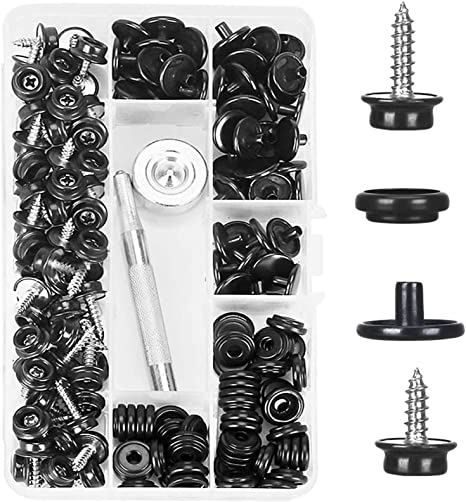 150 PCS Canvas Snap Kit with 2 Pcs Setting Tool Stainless Steel Marine Grade 3//8 Socket Canvas Snap Button Fastener Kit and Upholstery Boat Cover Snap Button Fastener Tool for DIY Cover Furniture