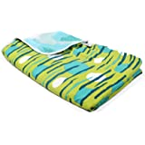 Divine Casa Natty Abstract Microfiber Reversible Single A/C Dohar/Blanket - Turquoise and Green