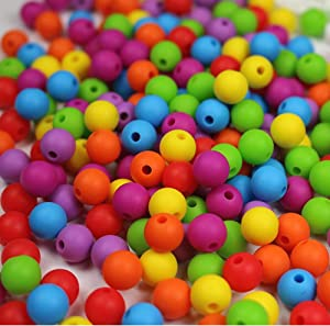 Silicone Beads Jewelry Making Kit -250PC Round 9mm Bead Kit - DIY Necklace Bracelet - Food Grade BPA Free Bead, Arts and Crafts Supplies (250PC Rainbow)