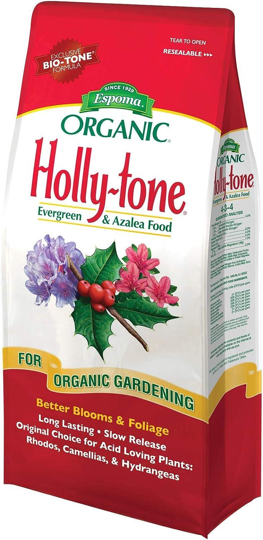 Espoma Holly-Tone Plant Food, Natural & Organic Fertilizer for Acid-Loving Plants, 4 lb, Pack of 2